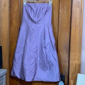 Ann Taylor Strapless Purple Dress